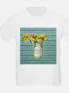 country mason jar flower T-Shirt