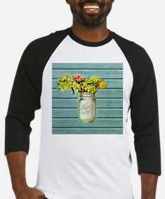 country mason jar flower Baseball Jersey