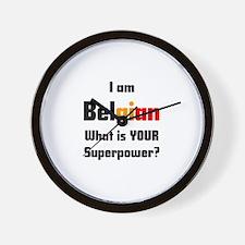 i am belgian Wall Clock