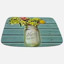 country mason jar flower Bathmat