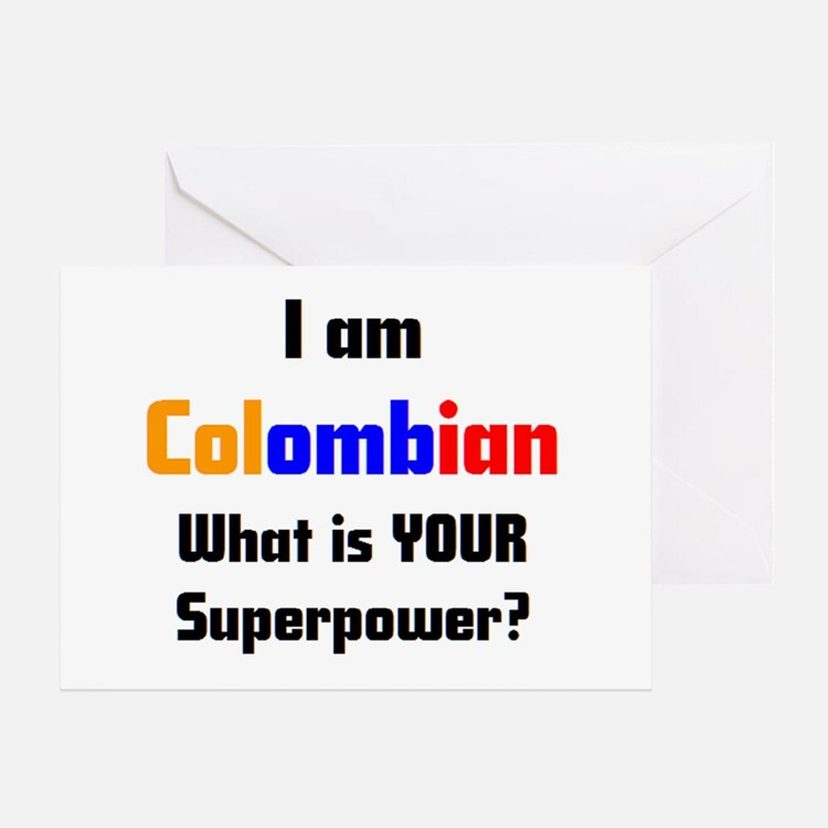 i am colombian Greeting Card