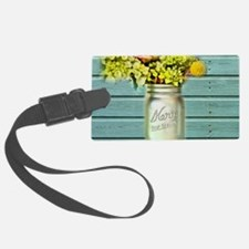 country mason jar flower Luggage Tag