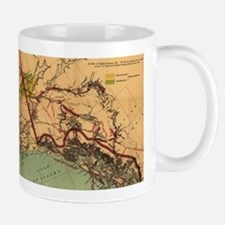 Vintage Map of Gold and Coal in Alaska (1898) Mugs