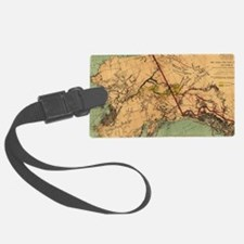 Vintage Map of Gold and Coal in Luggage Tag