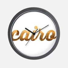 Cairo in Gold Wall Clock