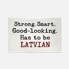 be latvian Rectangle Magnet