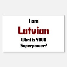 i am latvian Decal