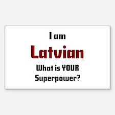 i am latvian Sticker (Rectangle)