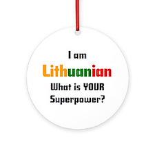 i am lithuanian Ornament (Round)