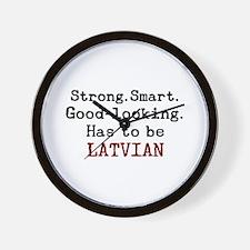 be latvian Wall Clock