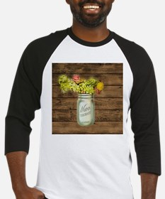 country mason jar wild flower Baseball Jersey