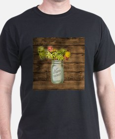 country mason jar wild flower T-Shirt