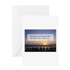 Journey Thousand Miles .. Sin Greeting Card