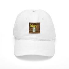 country mason jar wild flower Baseball Cap