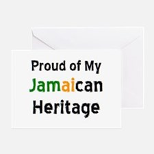 jamaican heritage Greeting Card