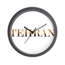 Tehran City Lights Wall Clock