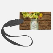 country mason jar wild flower Luggage Tag