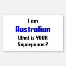 i am australian Decal