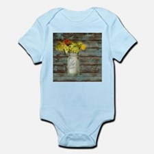 western country mason jar flower Body Suit