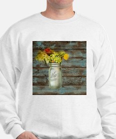western country mason jar flower Sweatshirt