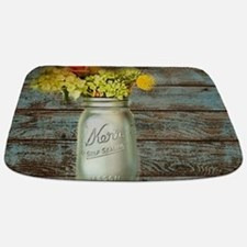 western country mason jar flower Bathmat
