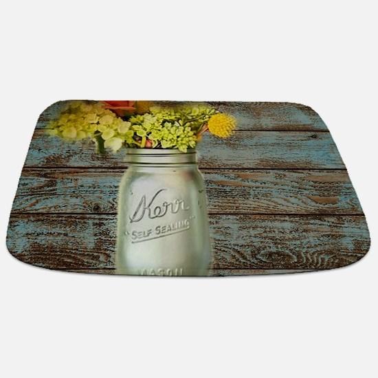 western country mason jar flower Bathmat
