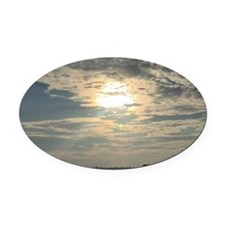 glorious sun and clouds Oval Car Magnet