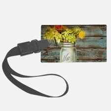 western country mason jar flower Luggage Tag