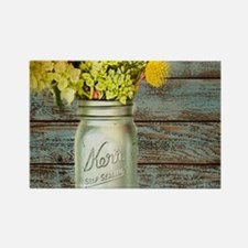 country mason jar flower Magnets
