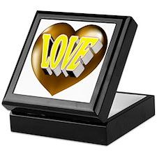 Great Golden Heart Love Keepsake Box