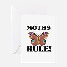 Cute Moths Greeting Card