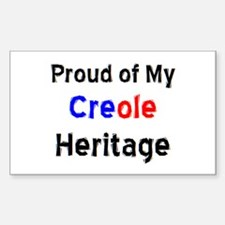 creole heritage Decal