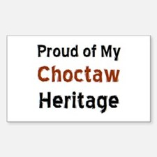 choctaw heritage Sticker (Rectangle)