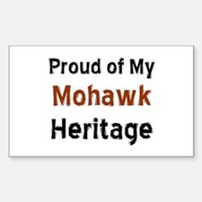 mohawk heritage Sticker (Rectangle)