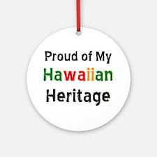hawaiian heritage Ornament (Round)