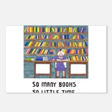 So Many Books so little t Postcards (Package of 8)