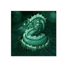 "Sea Serpent Square Sticker 3"" x 3"""