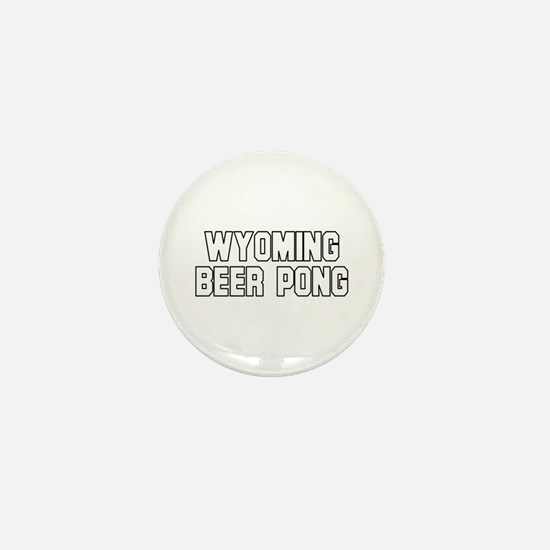 Wyoming Beer Pong Mini Button (100 pack)