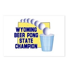 Wyoming Beer Pong State Champ Postcards (Package o