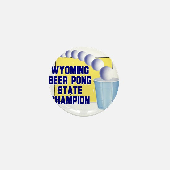 Wyoming Beer Pong State Champ Mini Button (100 pac