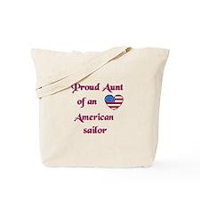 Proud Aunt/American Sailor Tote Bag