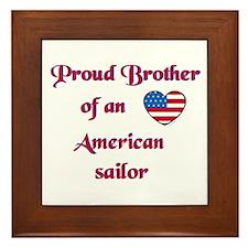 Proud Brother/American Sailor Framed Tile