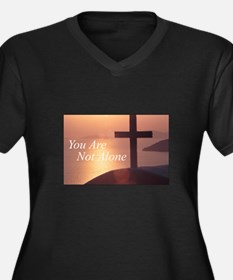 You Are Not Alone - Cross Women's Plus Size V-Neck