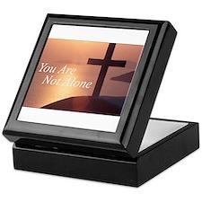 You Are Not Alone - Cross Keepsake Box