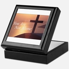 You Are Not Alone - Cross Keepsake Box
