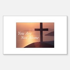 You Are Not Alone - Cross Rectangle Decal
