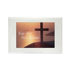 You Are Not Alone - Cross Rectangle Magnet