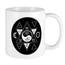 New Hermetics Seal Black on White Mug