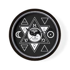New Hermetics Seal Black on White Wall Clock