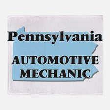 Pennsylvania Automotive Mechanic Throw Blanket